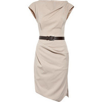 Michael Kors Belted stretch-wool dress - Polyvore