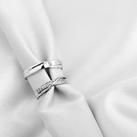 2 Rings-Free Engraving promise ring, Wedding Band Couple Rings, Lovers rings, his and hers promise ring sets , wedding rings, matching rings