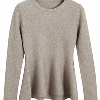 Long Sleeve Ruffled Hem Knitwear