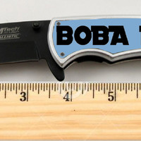 "Star Wars Boba Fett Limited Edition Spring Assisted Knife 4.5"" when closed"