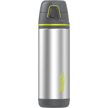 Thermos Element5 Stainless Steel, Insulated Double Wall Backpack Bottle - Charcoal w-Lime - 16 oz. [TS4504CH4]