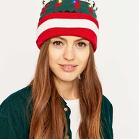 LED Reindeer Fair Isle Hat - Urban Outfitters