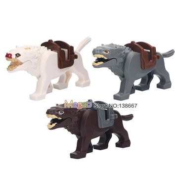 Single Sale The Lord of the Rings Medieval Knights Wolf Horse Wargs Battle Steed Legoingly Building Blocks Toys For Children