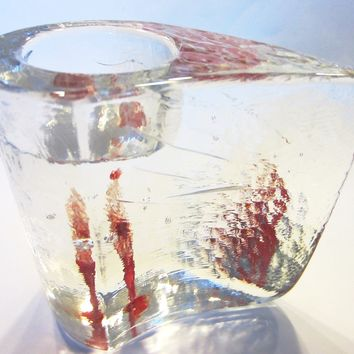 Kosta Boda Sweden Votive Tealight Crystal Candle Holder