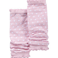 Starting Out Dotted Leg Warmers - Light Pink