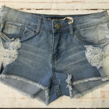 Lt Distressed Denim Shorts