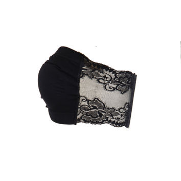 BOMBSHELL LACE BACK BANDEAU TOP - more colors available