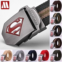 Superman Belts for Men, Canvas Hip Belt, Men Belts , Canvas Belt Canvas Price
