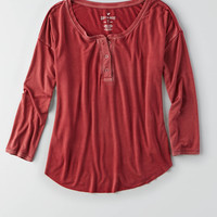 AEO SOFT & SEXY LACE BUBBLE T-SHIRT