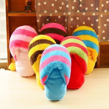 Cute Plush Slipper Shape Squeaky Toy Puppy Chew Play Toy Sound Pet Supplies Dogs for