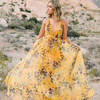 The Mirage Floral Maxi (Yellow)