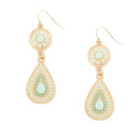 Sunburst Teardrop Drop Earrings | Icing