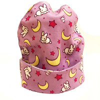 Sailor Moon Usagi Print Beanie |  Kawaii Anime Magical Girl Hat
