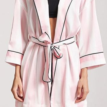 Striped Satin Robe