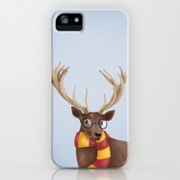 Harry Potter Stag Patronus EXPECTO PATRONUM ! Hogwarts Gryffindor iPhone & iPod Case by BaconFactory