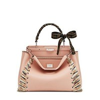 Fendi Women's 8BN2909FZF09CR Pink Leather Handbag
