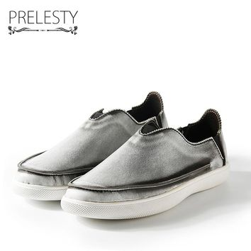 Prelesty Brand Vintage Retro Gentleman Exotic Men Casual Shoes Moccasins Soft Flat Driving Loafers Hip Hop Cool Zapatillas