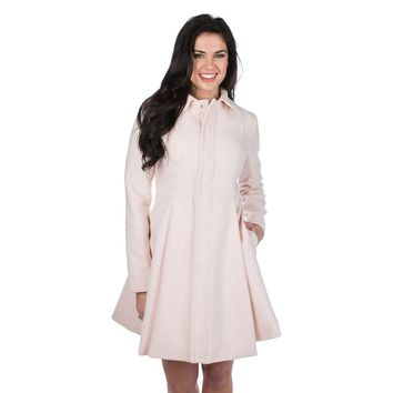 Chloe Coat in Blush by Lauren James