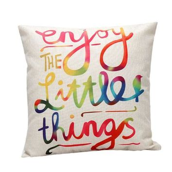 Enjoy The Little Things Decorative Pillow Case