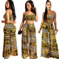 Versace Newest Fashion Women Vest Pants Two-Piece