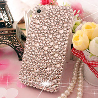 Handmade Bling sparkle diamond crystal Rhinestone iPhone 6 6 plus case iPhone 5 5c 5s 4s case Samsung note2 note3 case cover clear