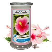 Pink Hibiscus Ring Candle