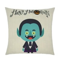 BXI Square 18 X 18 Inch Pillow Case Cushion Cover Halloween Throw Pillow Case Blue Kid
