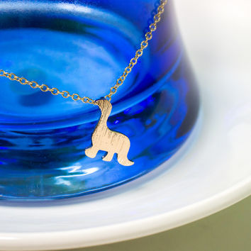 Dainty Gold Dinosaur Necklace