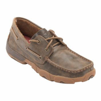 Twisted X Ladies Bomber Brown Boat Shoe