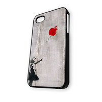 Banksy Girl with Apple Balloon iPhone 4/4S Case