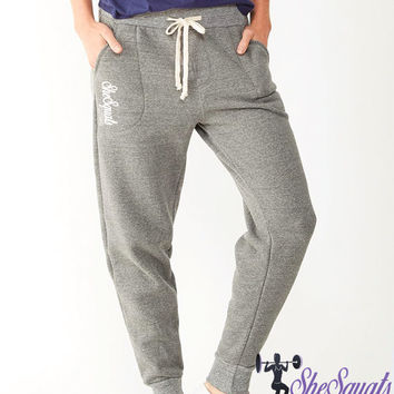 Ladies jogger boyfriend sweatpants. skinny sweatpants. running pants. womens drop crotch sweatpants. Personalized womens skinny sweatpants.