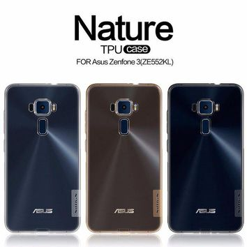 DCCKHY9 Asus Zenfone 3 ZE552KL case Asus Zenfone 3 ZE520KL TPU back cover NILLKIN Nature clear TPU soft case with retailed package