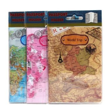 22 Styles For Choose Fashion Cartoon Style 3D Passport Holder PVC Travel Passport Cover Case,14*9.6cm Card & ID Holders