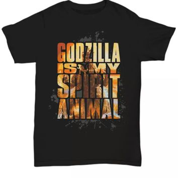 Godzilla is my spirit animal funny horror t-shirt
