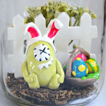 Easter Sculpture Mason Jar Monster by innovativemom on Etsy