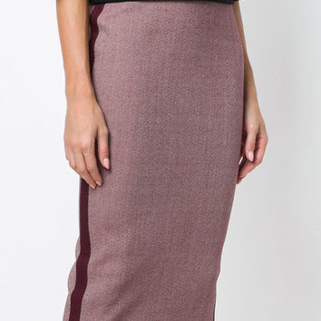 Victoria Beckham Side Stripe Pencil Skirt - Farfetch