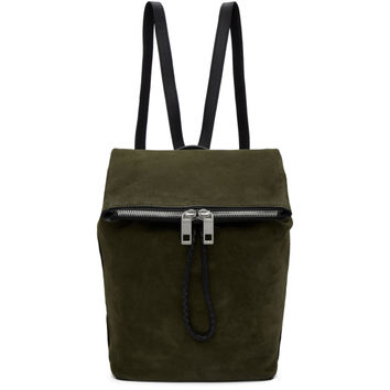 Green Suede Loner Backpack