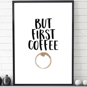 But first coffee, scandinavian print, minimalist art, scandinavian art, nordic art print, minimalist print, wall art printable, modern print