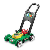 New Children's Gas Go Lawn Mower Toy Little Tikes Toddler Green Ages 18 months +