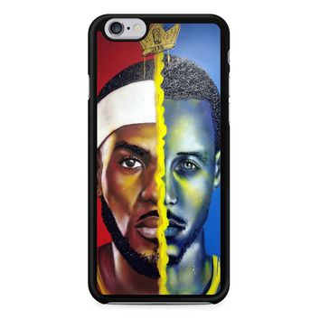 e4a86c97f786 Lebron James Vs Steph Curry Painting iPhone 6 6s Case