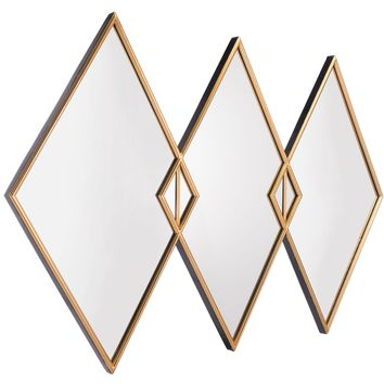 Gold Tres Wall Mirror