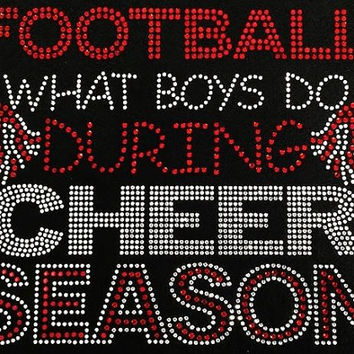 Rhinestone Cheer Football T-Shirt - Bling Shirt