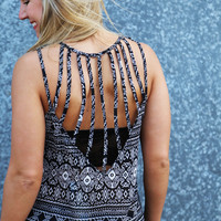 Crashing Into Prints Tank {Black}