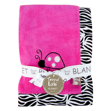 Trend Lab - Receiving Blanket - Framed Zahara Zebra