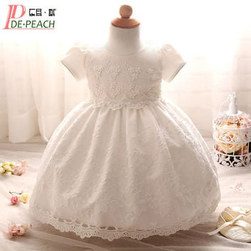 Baby Girl Dress Tutu Lace Princess Girls Clothes Flowers Toddler Girl Christening Gown Baby Dresses For Party Birthday Wedding