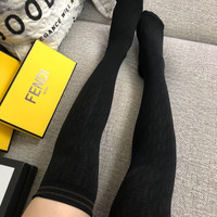 FENDI FF Black Long Socks