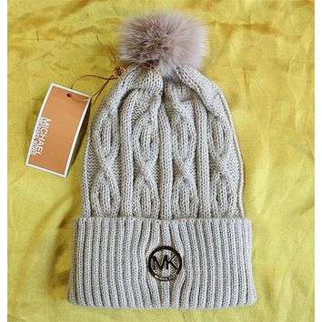 MK Fashion Logo Knit Beanies Hat Warm Woolen Hat