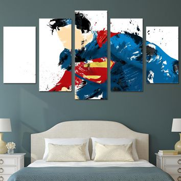 HD Printed Superman Art Comics Painting children's room decor print poster picture canvas Free shipping/ny-4150