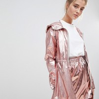 Noisy May Metallic Festival Parka at asos.com