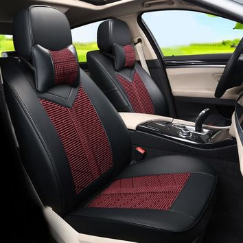 Automobiles Seat Covers for Dodge Journey Cover Seat Car Accessories for Cars Seat Protector Ice Silk&PU Leather Car Seat Cover